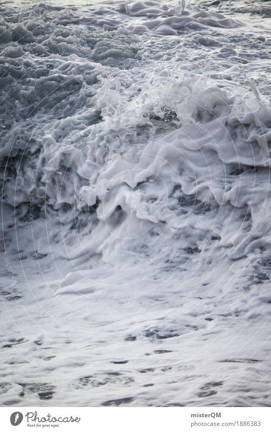 Atem der Erde. Wasser weiß Meer ruhig Küste Kunst Wellen Kraft ästhetisch Wassertropfen Wasseroberfläche Kunstwerk Wasserfall Brandung Schaum Wassersport