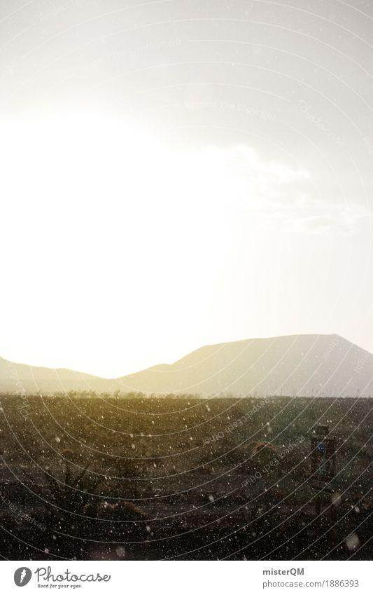 Regen im Paradies. Sonne Einsamkeit Ferne Berge u. Gebirge Kunst Wetter ästhetisch Insel Spanien Fuerteventura