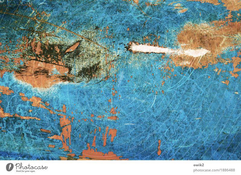 Aggression Kunst Kunstwerk Gemälde Subkultur Kunststoff verrückt wild blau orange türkis weiß Wut Ärger gereizt Feindseligkeit Frustration Verbitterung trotzig