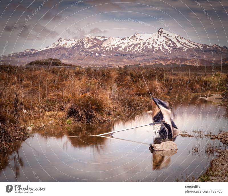 Tongario National Park Natur Wasser alt Pflanze Sommer Wolken Gras Berge u. Gebirge Landschaft Luft Umwelt Felsen Erde ästhetisch Müll Gipfel