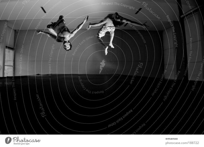 10m Auerbach syncron Mensch Jugendliche Freude schwarz Sport springen Bewegung Freiheit maskulin fliegen Lifestyle Coolness Schwimmbad Schwimmen & Baden 2