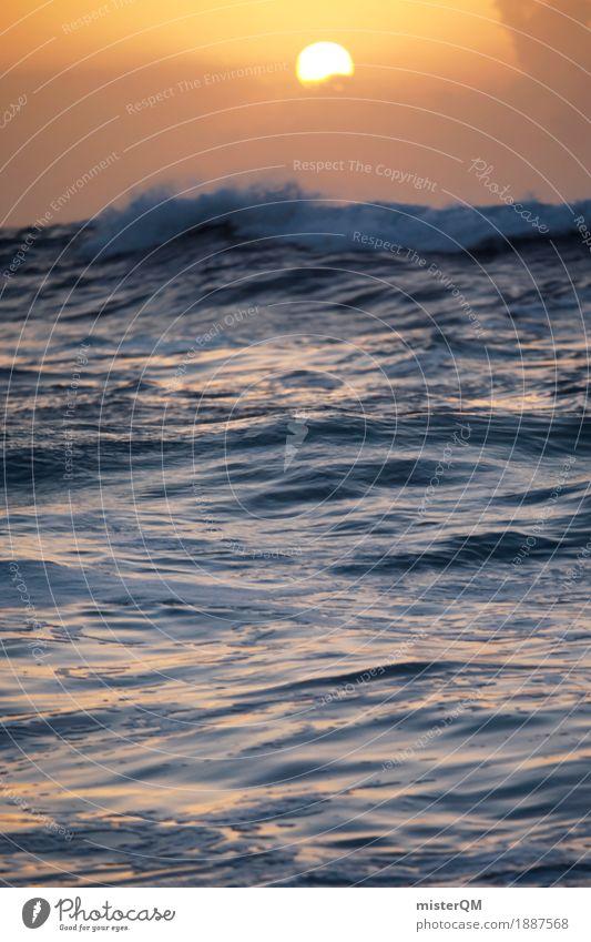 Karibiksonne. Kunst Kunstwerk ästhetisch Sonne Sonnenstrahlen Romantik verträumt Traurigkeit Meer Meerwasser Meerstraße Meerestiefe Idylle Paradies paradiesisch