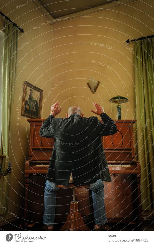 Musik | aus freien Stücken Stil Freude Freizeit & Hobby Mensch maskulin Mann Erwachsene Männlicher Senior Rücken 45-60 Jahre Kultur Konzert Musiker Klavier