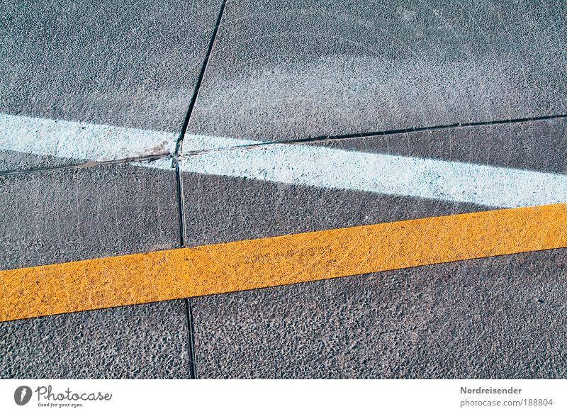 Verkehrsführung Ferien & Urlaub & Reisen Straße Arbeit & Erwerbstätigkeit Linie planen Straßenverkehr Umwelt Schilder & Markierungen Beton Sicherheit Ordnung