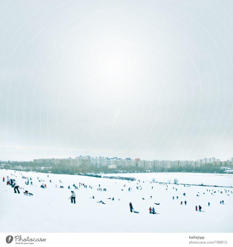 eiszeit Mensch Natur Winter Freude Erwachsene Leben Schnee Umwelt Spielen Berge u. Gebirge Kindheit Eis Freizeit & Hobby Ausflug Hochhaus Klima