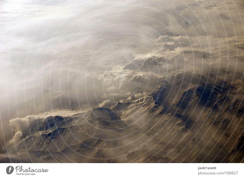Alpenschick Himmel Natur schön weiß Landschaft Wolken ruhig Winter Umwelt Ferne dunkel Berge u. Gebirge kalt Stein hell Luft