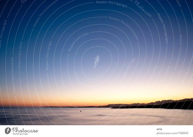 """30"""" of peace harmonisch Wohlgefühl Zufriedenheit ruhig Ferne Meer Landschaft Wasser Himmel Berge u. Gebirge Küste Erholung träumen ästhetisch Warmherzigkeit"""