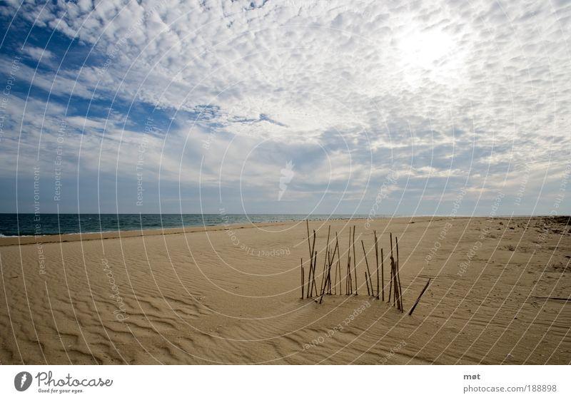 Ilha Deserta Natur Wasser schön Himmel Sonne Meer Sommer Strand Ferien & Urlaub & Reisen Wolken Ferne Erholung Freiheit träumen Wärme Sand