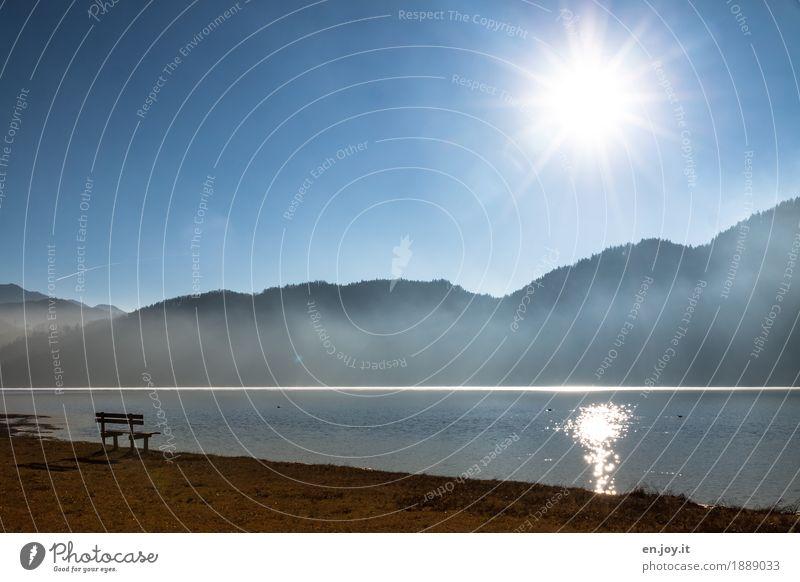 ein Platz an der Sonne Natur Ferien & Urlaub & Reisen blau Landschaft Einsamkeit ruhig Berge u. Gebirge Umwelt Religion & Glaube Traurigkeit Herbst Wiese Tod