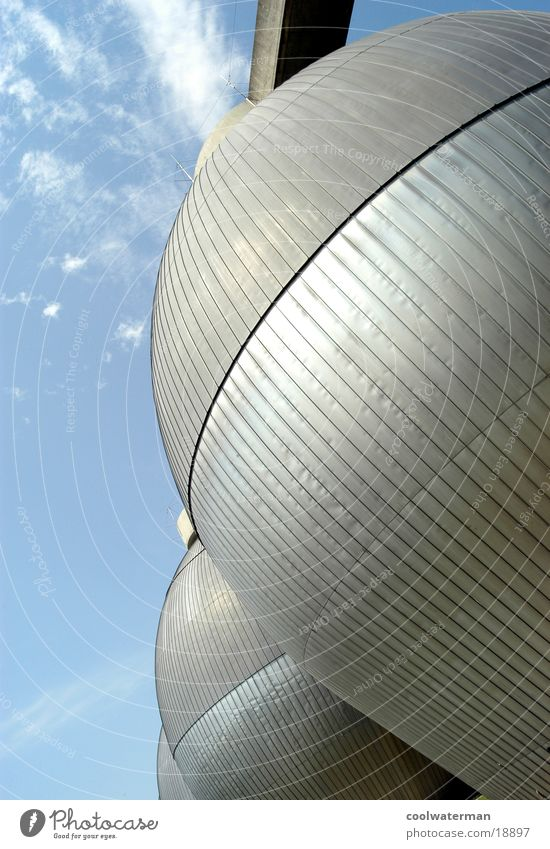 metal eggs Wolken Stil Metall Architektur Umwelt modern Industriefotografie rund Gas Klärwerk