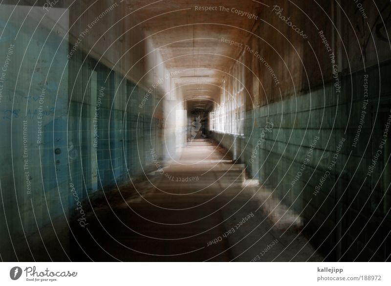heilungsweg Einsamkeit Haus Fenster Tod Bewegung Tür dreckig Licht Arzt Perspektive historisch Fliesen u. Kacheln gruselig trashig Rauschmittel Flucht