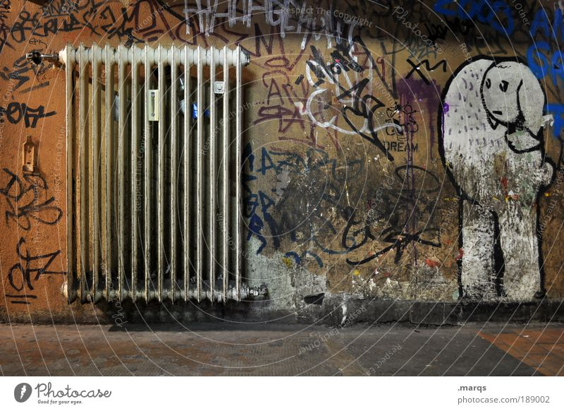 Verheizt Wand Umwelt Graffiti Wärme Stil Mauer dreckig Innenarchitektur elegant Design Energiewirtschaft außergewöhnlich Schriftzeichen Coolness Lifestyle einzigartig