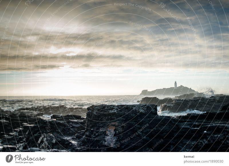 The splash Leben Ferien & Urlaub & Reisen Ausflug Abenteuer Ferne Freiheit Meer Insel Wellen Natur Landschaft Wasser Himmel Wolken Wetter Unwetter Sturm Felsen