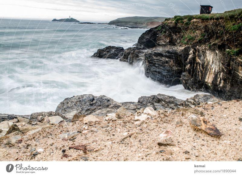 Wild waves Leben Ferien & Urlaub & Reisen Ausflug Abenteuer Ferne Freiheit Sommer Sommerurlaub Meer Wellen Natur Landschaft Wasser Felsen Berge u. Gebirge