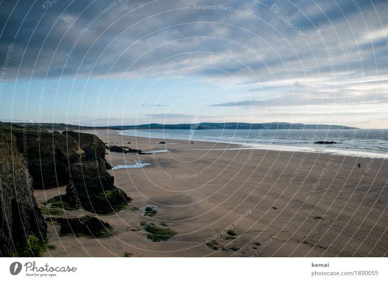 Cornish colours Himmel Natur Ferien & Urlaub & Reisen blau schön Wasser Landschaft Meer Wolken ruhig Ferne Strand Küste Freiheit Felsen Wetter