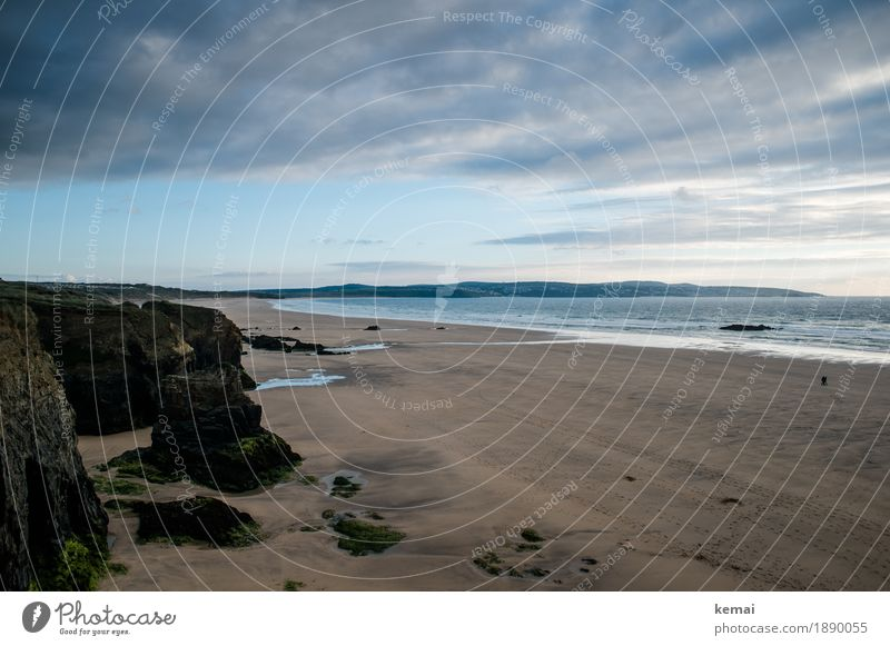 Cornish colours Sinnesorgane ruhig Ferien & Urlaub & Reisen Ausflug Abenteuer Ferne Freiheit Sommerurlaub Strand Meer Natur Landschaft Wasser Himmel Wolken