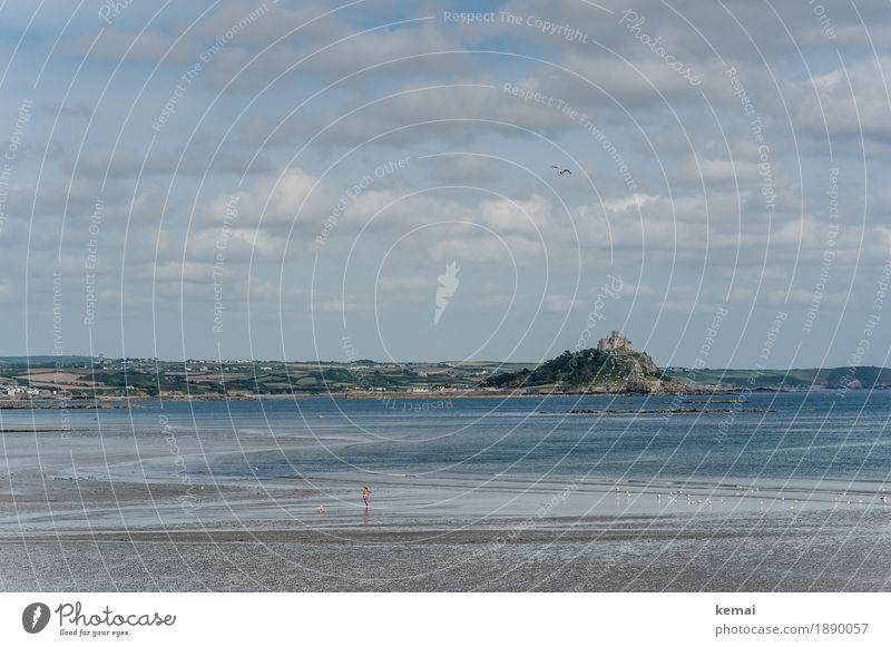 Glaubensberg Himmel Natur Ferien & Urlaub & Reisen blau Wasser Landschaft Meer Erholung Wolken ruhig Ferne Strand Umwelt Küste Freiheit Tourismus