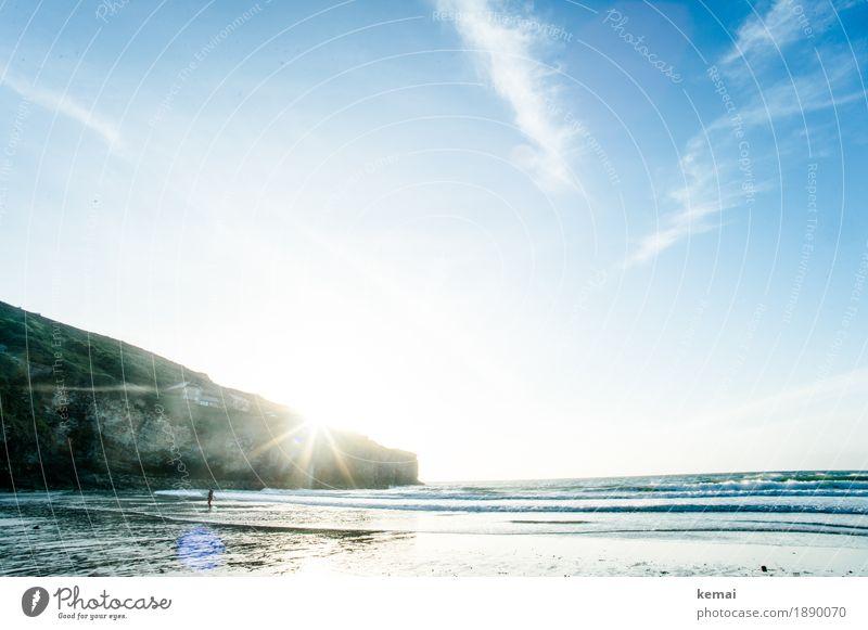 Evening sun Himmel Natur Ferien & Urlaub & Reisen blau Sommer Wasser Meer Landschaft Wolken ruhig Ferne Strand Umwelt Leben Lifestyle Freiheit