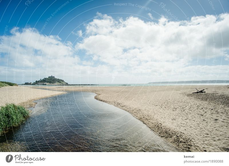 Sunny day Himmel Natur Ferien & Urlaub & Reisen blau Sommer Wasser Meer Landschaft Erholung Wolken ruhig Ferne Strand Umwelt Küste Freiheit
