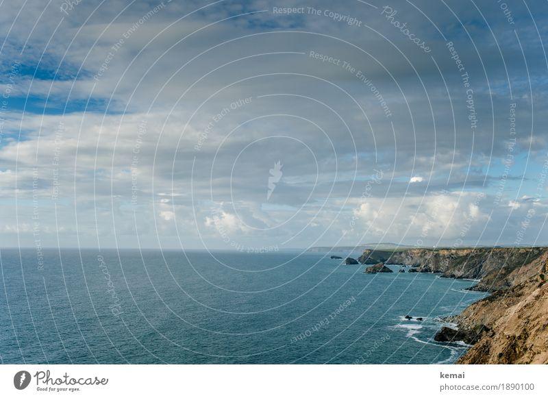 Coastline Himmel Natur Ferien & Urlaub & Reisen Sommer schön Wasser Meer Landschaft Erholung Wolken ruhig Ferne Umwelt Küste außergewöhnlich Freiheit