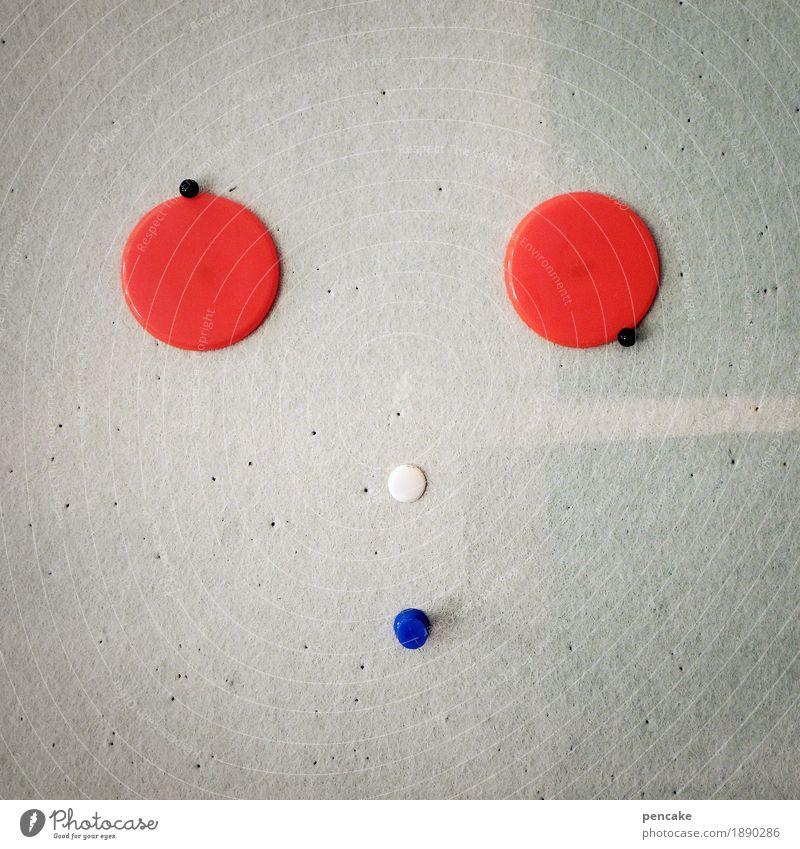 orientierungs | los blau weiß rot Gesicht Spielen grau Büro Schilder & Markierungen verrückt Zeichen Punkt Suche Sammlung Gesichtsausdruck Nadel Reißzwecken