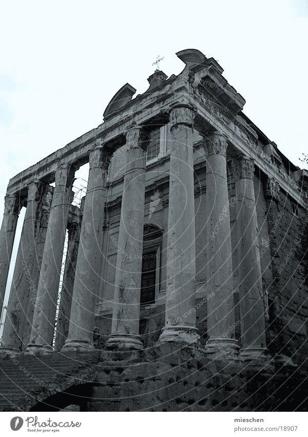 Rom Forum Gebäude Europa Säule Romania Römerberg