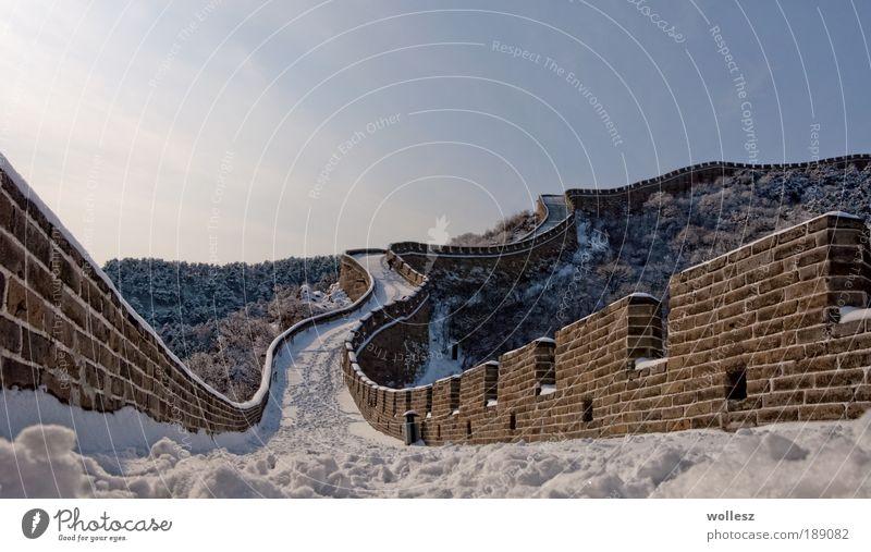 The Wall Kunst Kunstwerk China Asien Ruine Bauwerk Architektur Stein Mauer Wand Fassade Sehenswürdigkeit Wahrzeichen Denkmal Chinesische Mauer Beton Backstein