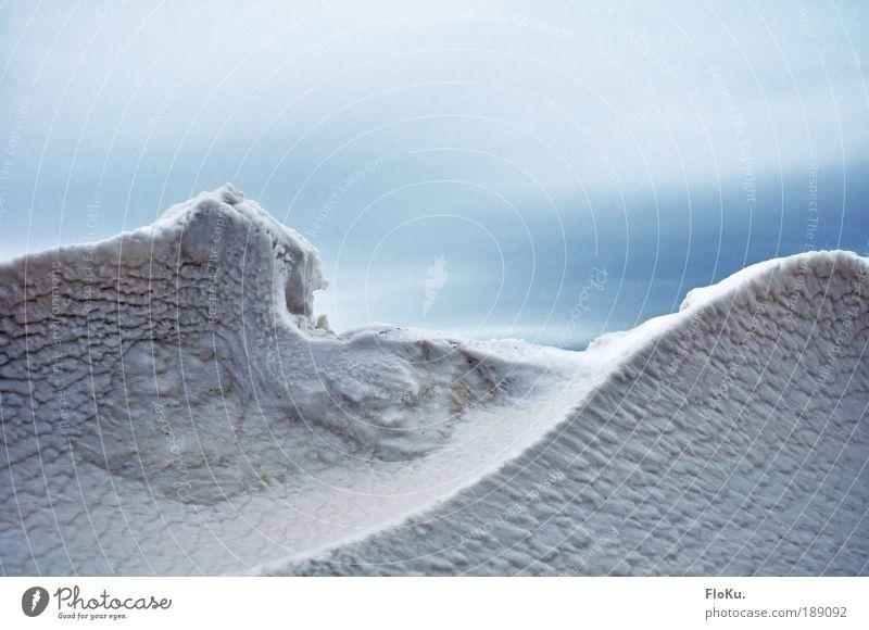 Eiszeit Umwelt Natur Landschaft Himmel Wolken Winter Klima Klimawandel Frost Schnee Gletscher kalt blau weiß bizarr Schneewehe Schneelandschaft Schneedecke