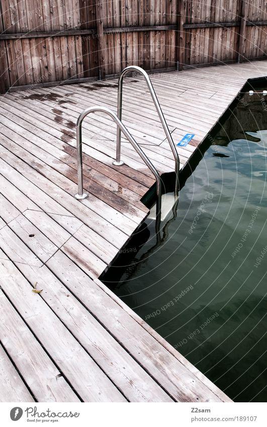 ausstieg Wasser Ferien & Urlaub & Reisen ruhig dunkel Erholung Stil Holz Wasserfahrzeug Architektur elegant nass frisch Treppe ästhetisch Wellness Ecke