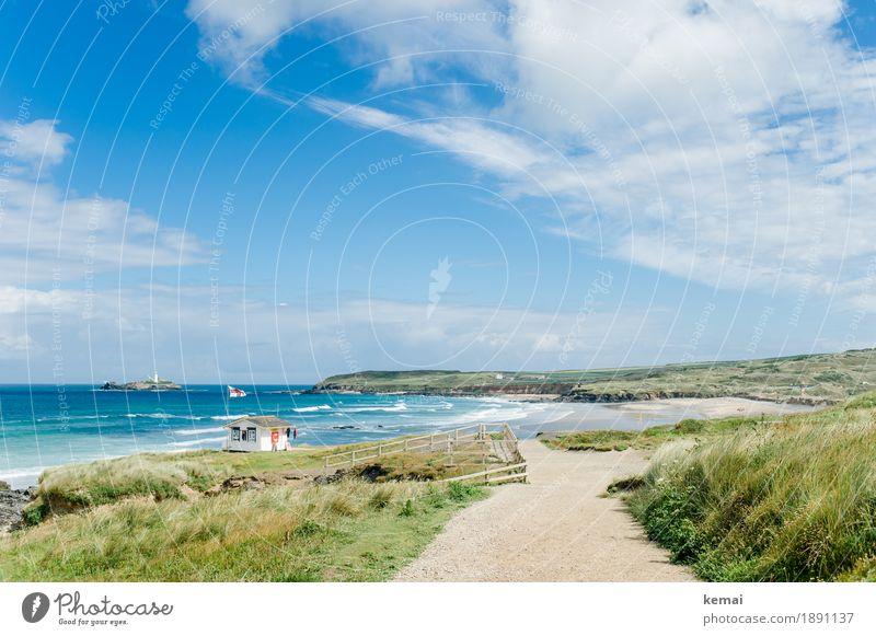 A day out Himmel Ferien & Urlaub & Reisen blau Sommer grün schön Wasser Meer Landschaft Erholung Wolken Haus ruhig Ferne Strand Umwelt