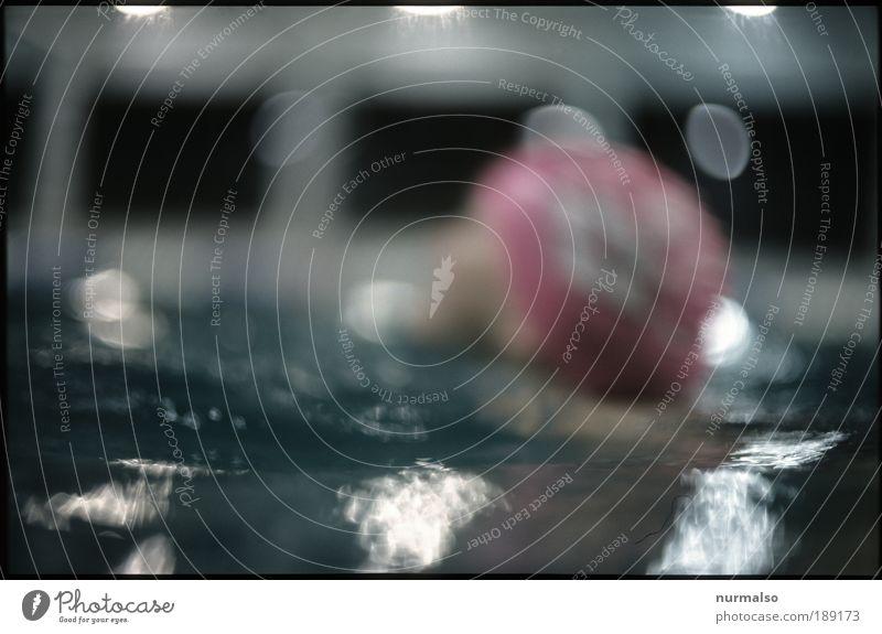 DAS Seepferdchen Mensch Sommer Freude Spielen Bewegung Kopf Kunst Kindheit Freizeit & Hobby Schwimmen & Baden glänzend Schwimmbad Lomografie skurril Mut