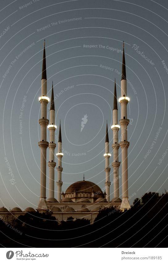 Mersin Mugdat Cami - Moschee weiß Ferien & Urlaub & Reisen Ferne Wand Architektur grau Religion & Glaube Stein Mauer Fassade groß Dach Kultur Spitze Bauwerk