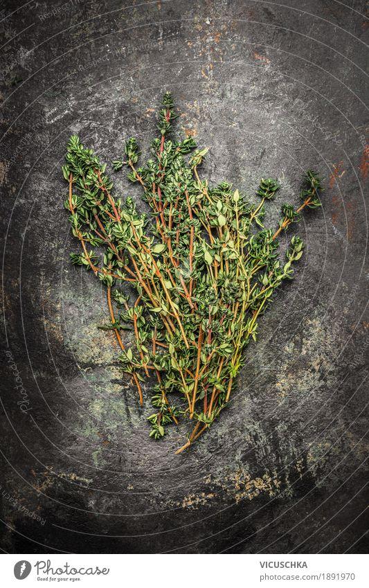Thymian Lebensmittel Kräuter & Gewürze Ernährung Bioprodukte Stil Design Gesundheit Gesunde Ernährung Restaurant Duft aromatisch rustikal dunkel Heilpflanzen