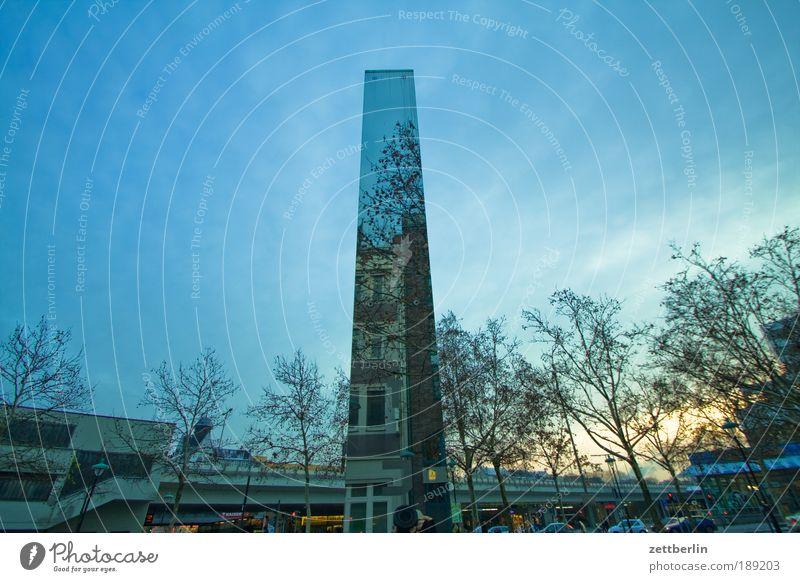 Unbuntes Steglitz Spiegel Reflexion & Spiegelung Stele Himmel Winter Haus Baum Platz Stadt Denkmal Holocaustgedenkstätte steglitz Berlin Hermann-Ehlers-Platz