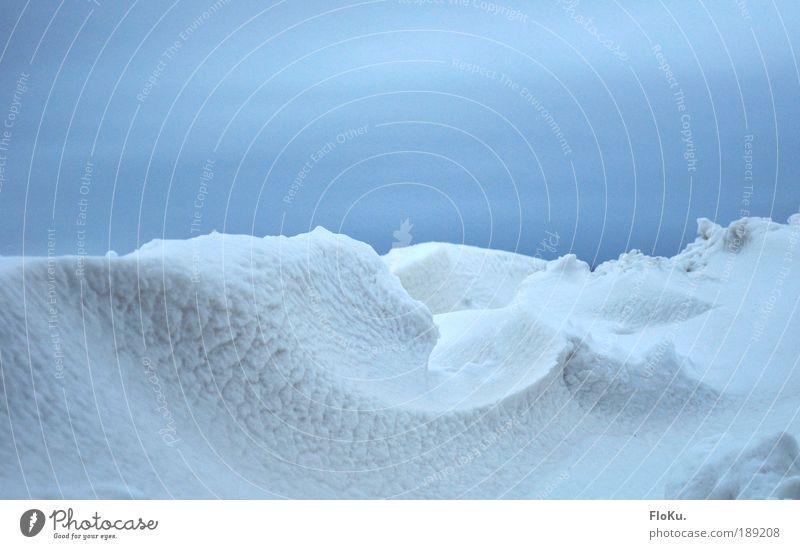 Die nächste Eiszeit Umwelt Natur Landschaft Winter Klima Klimawandel schlechtes Wetter Unwetter Frost Schnee Hügel Berge u. Gebirge Gletscher kalt blau weiß