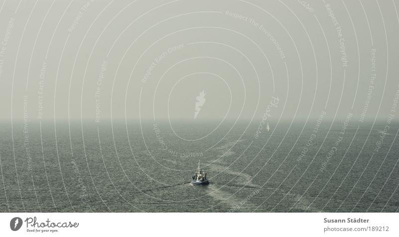 Geburtstagswünsche, bis zum Horizont und noch viel weiter Meer Wasserfahrzeug Küste Wellen Insel Spuren leuchten Richtung Bucht Verkehrswege Schifffahrt Ostsee