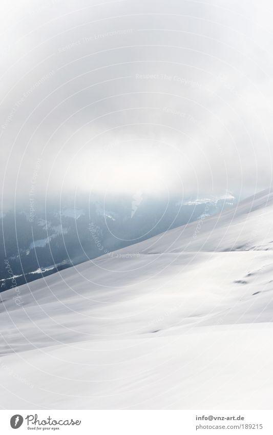 graphic and winter Natur Landschaft Wolken Winter kalt Berge u. Gebirge Umwelt Schnee Tiefschnee