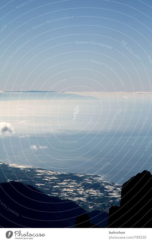 klein in einer großen welt Himmel Natur blau Ferien & Urlaub & Reisen Meer Wolken Ferne Freiheit Landschaft Umwelt Zusammensein Kraft Ausflug Insel Tourismus