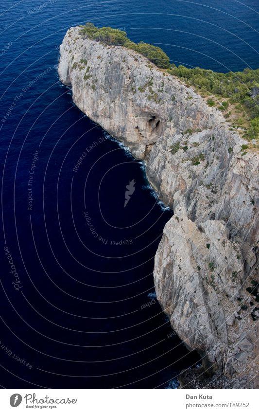 Gottes Fingerzeig Hand Sonne Meer blau Ferien & Urlaub & Reisen Wellen Küste Felsen Ausflug Insel Tourismus Klima Klettern Konzentration Bucht