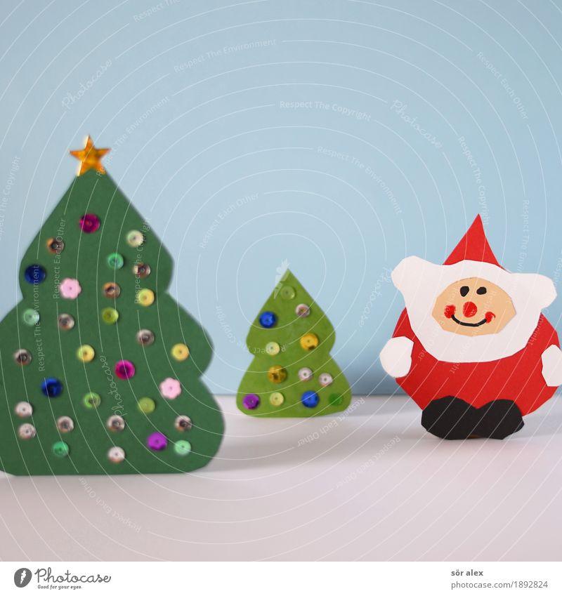 Frohes Fest Weihnachten & Advent Freundlichkeit Fröhlichkeit Glück lustig blau grün rot Gefühle Vorfreude Glaube kaufen Handel Religion & Glaube