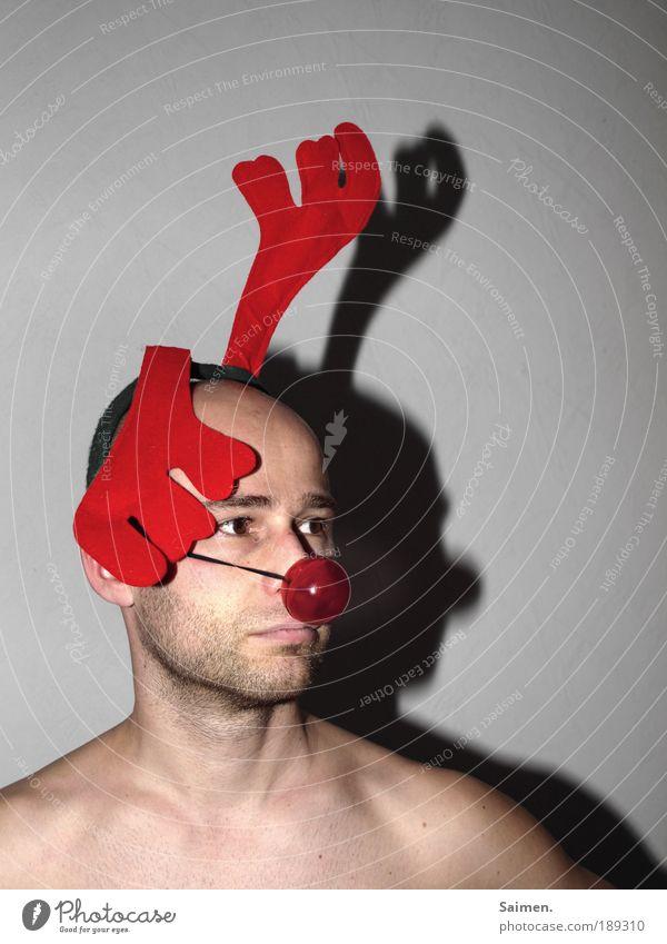 """""""puttegeht - Reentier traurig sein"""" Mensch Mann Jugendliche Weihnachten & Advent Winter Erwachsene Gesicht Auge Kopf Stil Traurigkeit außergewöhnlich maskulin"""
