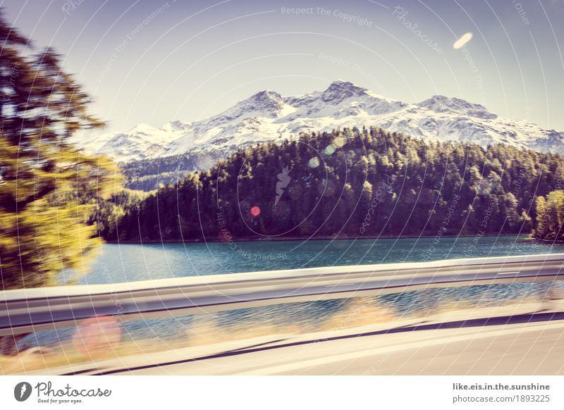 Drive-by-paradise Natur Ferien & Urlaub & Reisen Baum Erholung Ferne Berge u. Gebirge Herbst Schnee Glück Freiheit Felsen Tourismus Verkehr Zufriedenheit