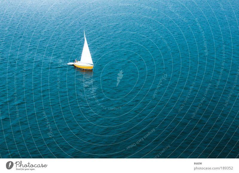 Segeltörn Wasserfahrzeug Natur Sonne Meer blau Ferien & Urlaub & Reisen Einsamkeit Ferne Bewegung Freiheit Suche Ausflug Abenteuer Reisefotografie Unendlichkeit