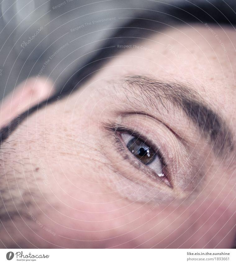 Abtauchen.... Jugendliche Mann Junger Mann Erholung ruhig Gesicht Erwachsene Auge Traurigkeit Liebe Haare & Frisuren Kopf braun maskulin Zufriedenheit Haut