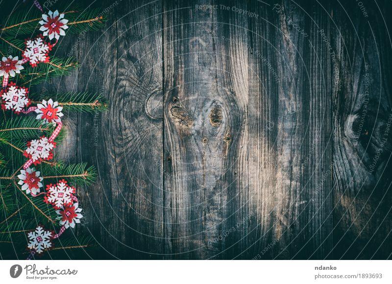 Grauer Hintergrund der hölzernen Weinlese, Design Winter Dekoration & Verzierung Tisch Feste & Feiern Weihnachten & Advent Silvester u. Neujahr Natur Baum Holz