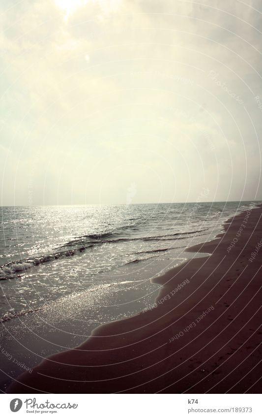 shoreline Umwelt Natur Landschaft Erde Luft Wasser Himmel Horizont Küste Strand Nordsee Ostsee Meer frei glänzend groß Farbfoto Gedeckte Farben Außenaufnahme