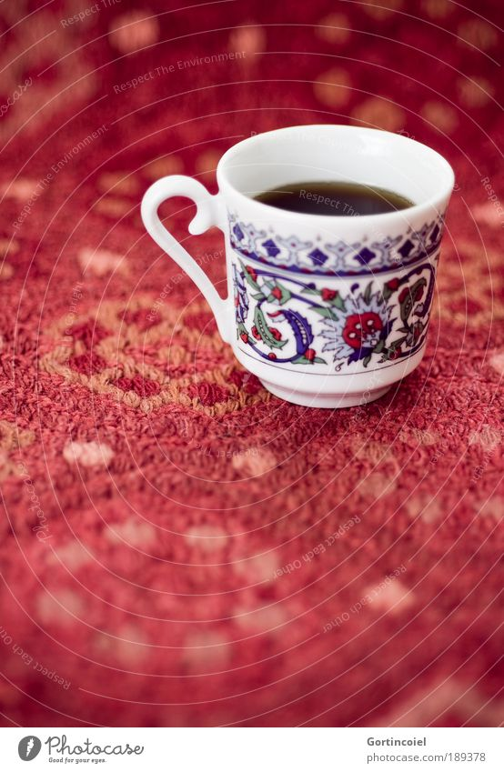 Kaffeesatz schön rot Stil Ernährung klein Lebensmittel Design Getränk Kaffee Dekoration & Verzierung heiß Geschirr lecker Tasse Türkei Ornament