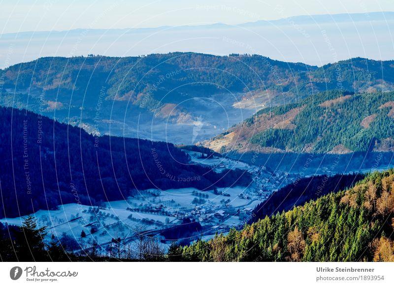 Berg und Tal 3 Ferien & Urlaub & Reisen Tourismus Ausflug Winter Schnee Winterurlaub Berge u. Gebirge wandern Umwelt Natur Landschaft Pflanze Wald Schwarzwald