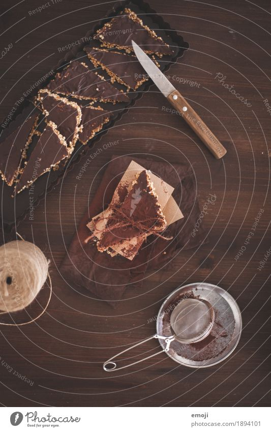 Quinoa-Ecken braun Ernährung süß lecker Süßwaren Kuchen Dessert Schokolade Slowfood Fingerfood
