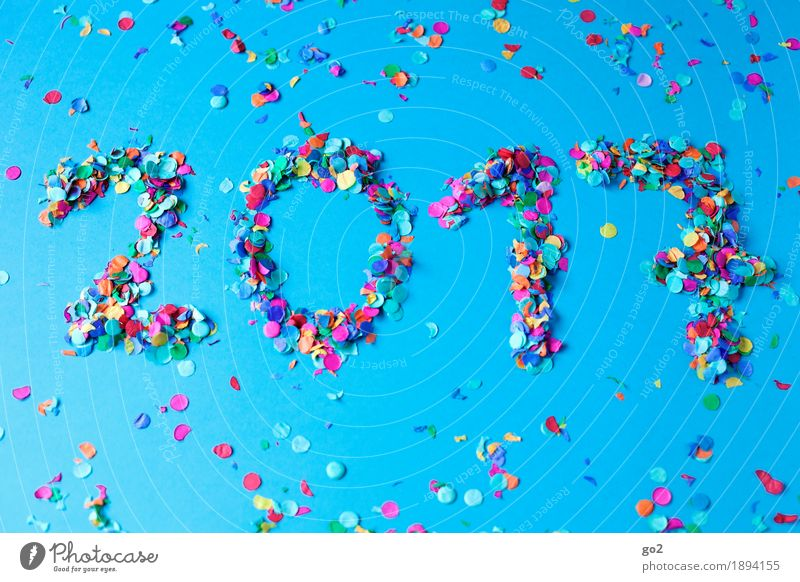 2017 blau Freude Gefühle Glück Feste & Feiern Party Dekoration & Verzierung Geburtstag Kreativität Fröhlichkeit Lebensfreude Ziffern & Zahlen Hochzeit Show
